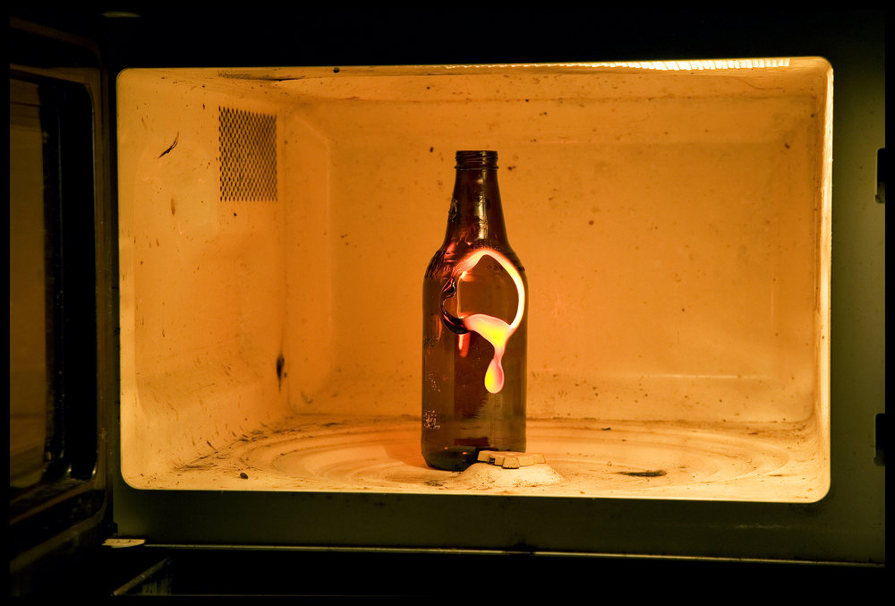 Bill Beaty: Microwaved Bottle, 2007