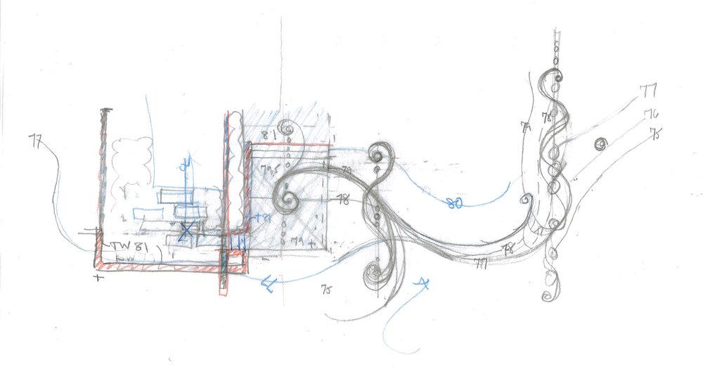 Conceptual Sketch by Arterra Landscape Architects
