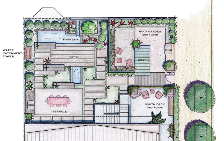 Master plan for the Sunset Idea House, by Arterra Landscape Architects
