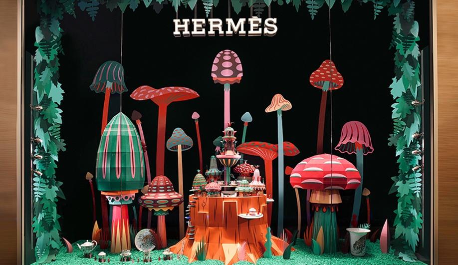 Zim & Zou Craft Colourful Worlds for a Hermès Window Display, via Azure Magazine