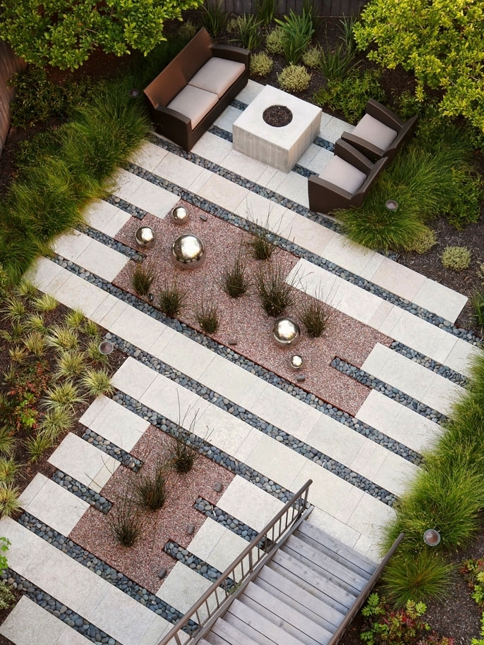 16 Inspirational Backyard Landscape Designs - As Seen From Above