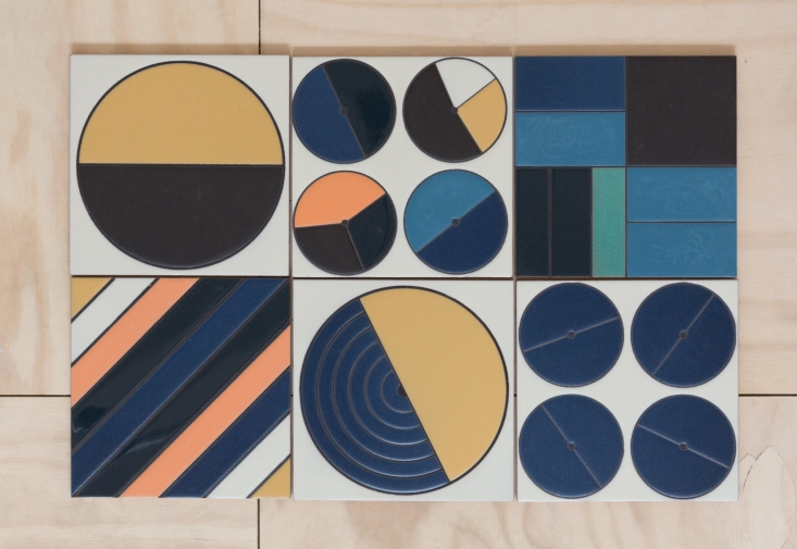 There are lots of pattern options with these cool new tiles from Fireclay,   via Remodelista .