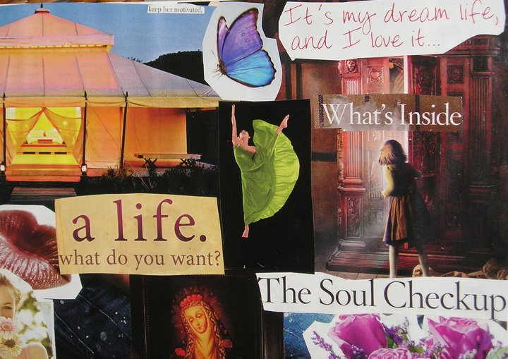 Section of my very first Soul Collage (2007)