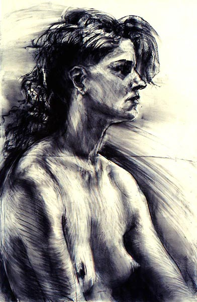 Cassandra  - 24 x 36 in  charcoal