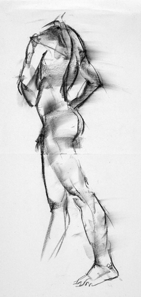Gesture #2  - 18 x 24in. - charcoal