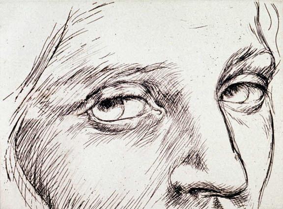 Sguardo 1  - 18 x 24 in etching
