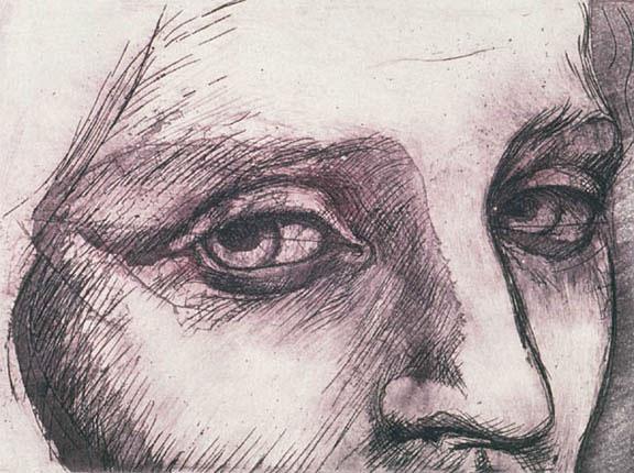 Sguardo 2 - 18 x 24 in etching