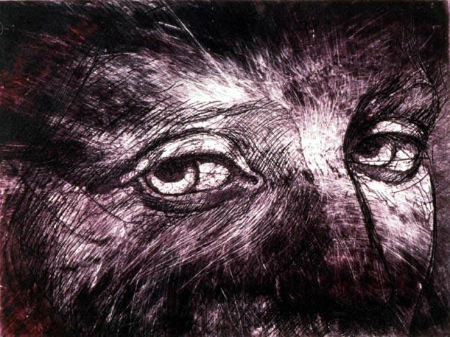 Sguardo 3 - 18 x 24 in etching