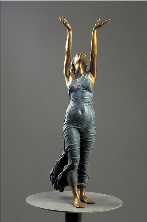 Aurora's Gift  - 40 X 12 X 8 in cast bronze