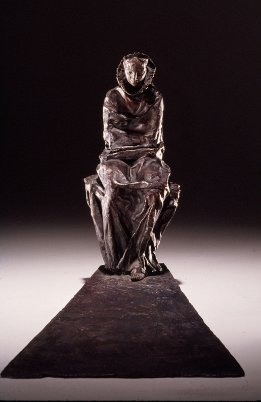Meditation  - 28 X 9 X 21 in cast bronze