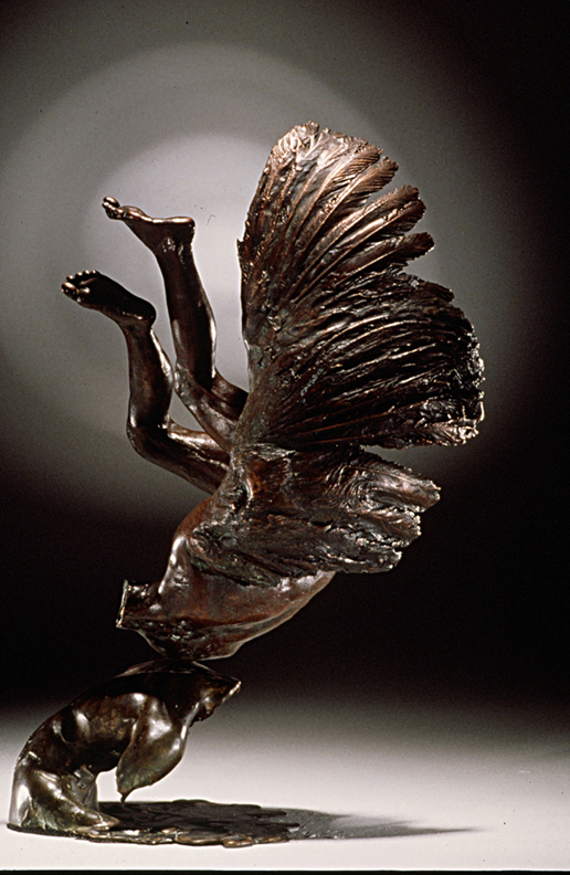 Narcis Icarus  - 15 X 12 X 7 in cast bronze