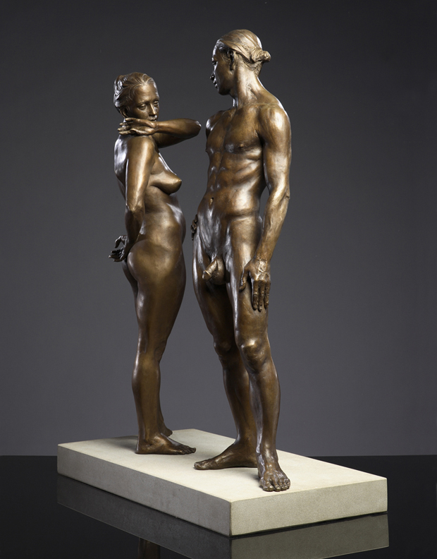 Shared Boundaries  - 24 X 8 X 29 in cast bronze