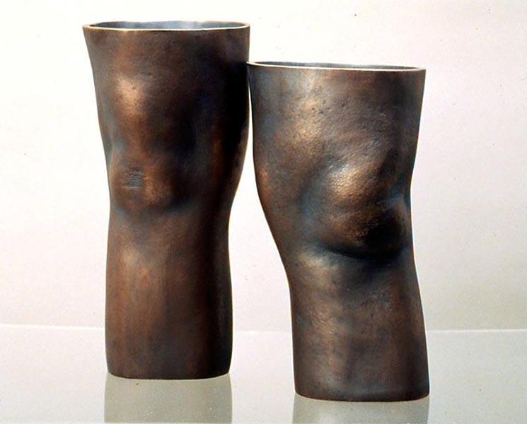 Knees  -12 x 10 x 10 in cast bronze