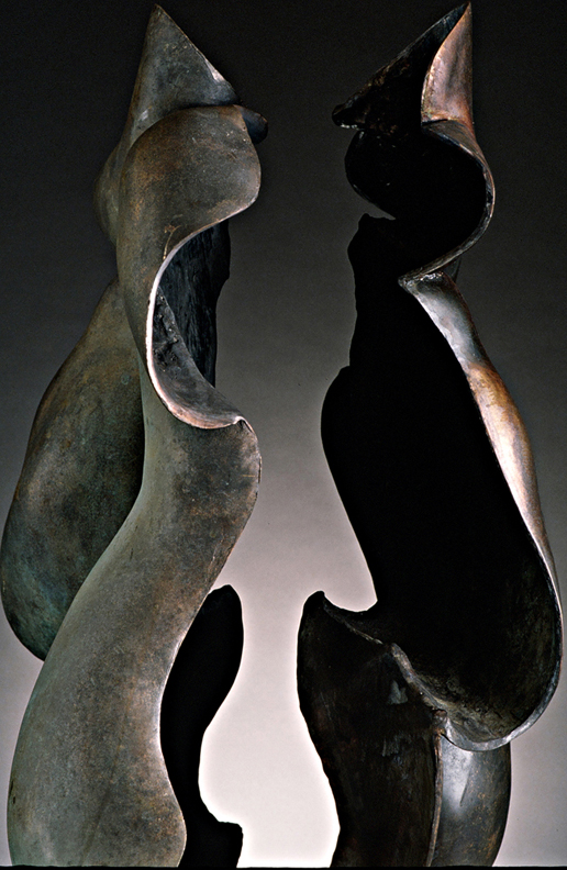 Shared Boundaries -  34 X 20 X 23 in cast bronze