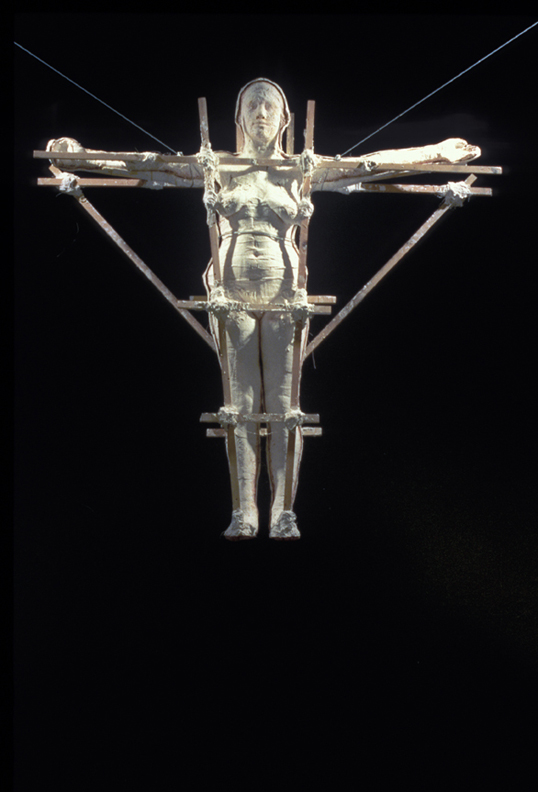 Cruz  - 71 X 66 X 17 in gauze, polyester resin & wood