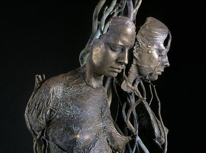 """Gaia (maquette) , cast bronze 36""""X12""""24"""""""