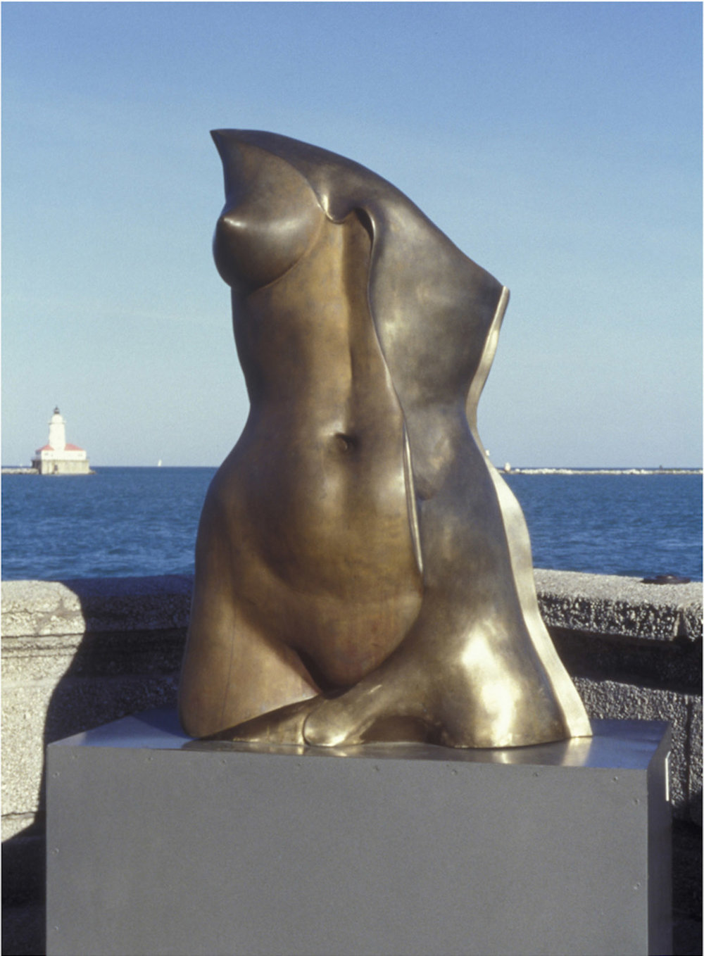 Res  - 8' X 4' X 3' in cast bronze (1999) at Navy Pier in Chicago, IL