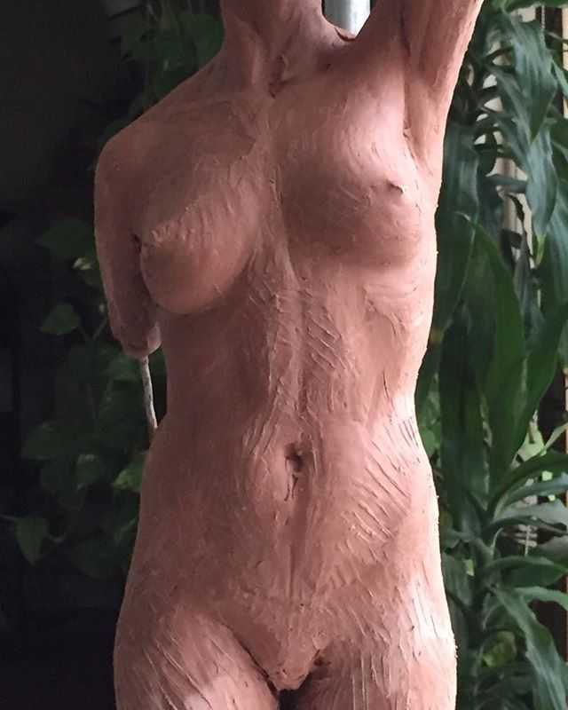 Beginning sketch of torso.  #figurativesculpture  #claymodeling. #academicart