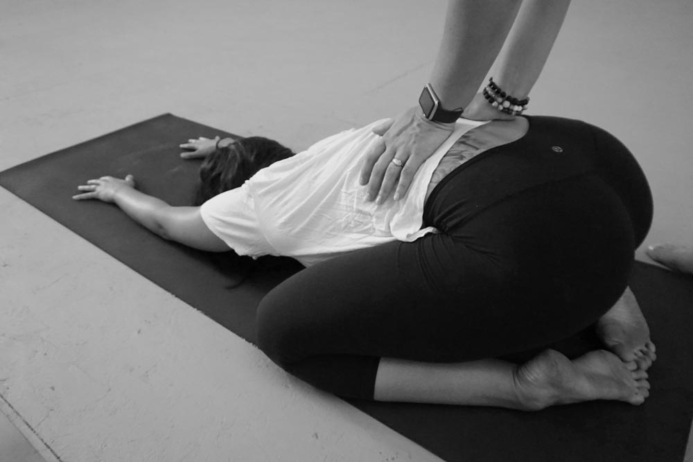 Touch + Release combined elements of yin yoga and massage is a specialized yoga class that blends yin and restorative style postures with hands-on massage and adjustments.