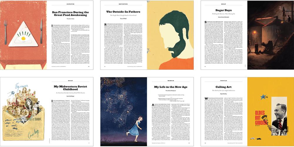 Clockwise from top left: Illustrations by Carlo Giambarresi (2), Jenn Ely, Cristiana Couciero, Raquel Aparecio, Victoria Semykina