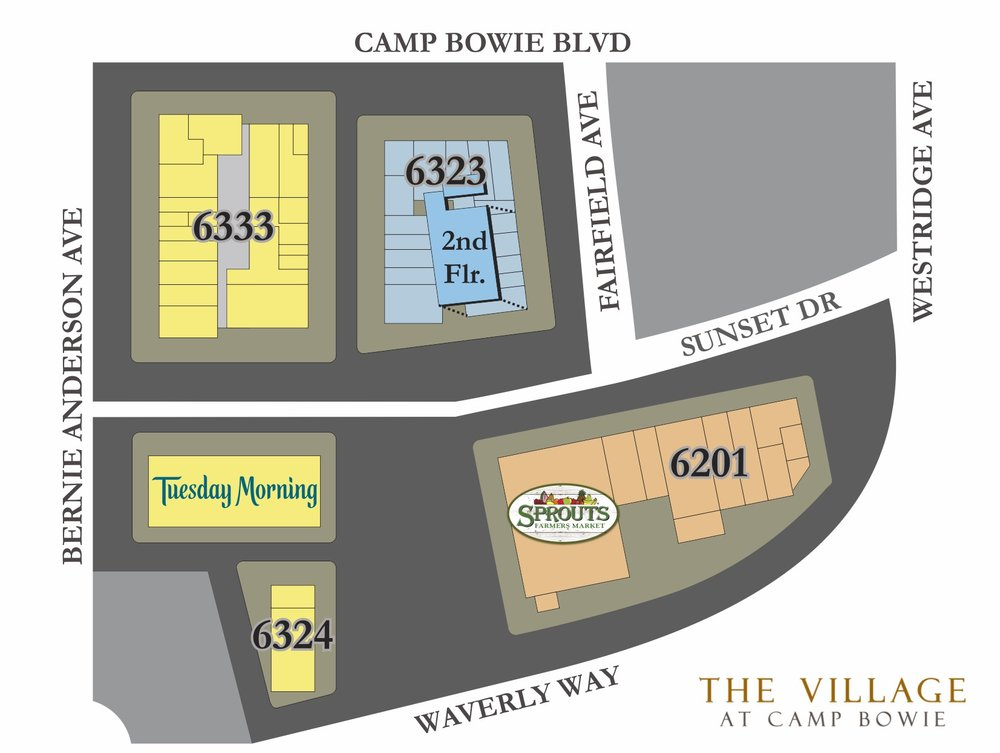 Village at Camp Bowie Directory Map