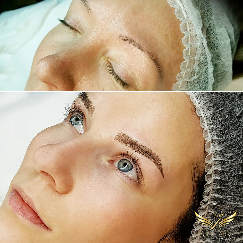 Light microblading. Classic Light microblading makes the face shine.