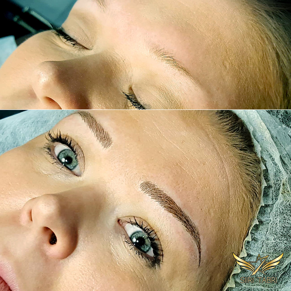SharpBrows Light microblading. Brow shape changed totally :)