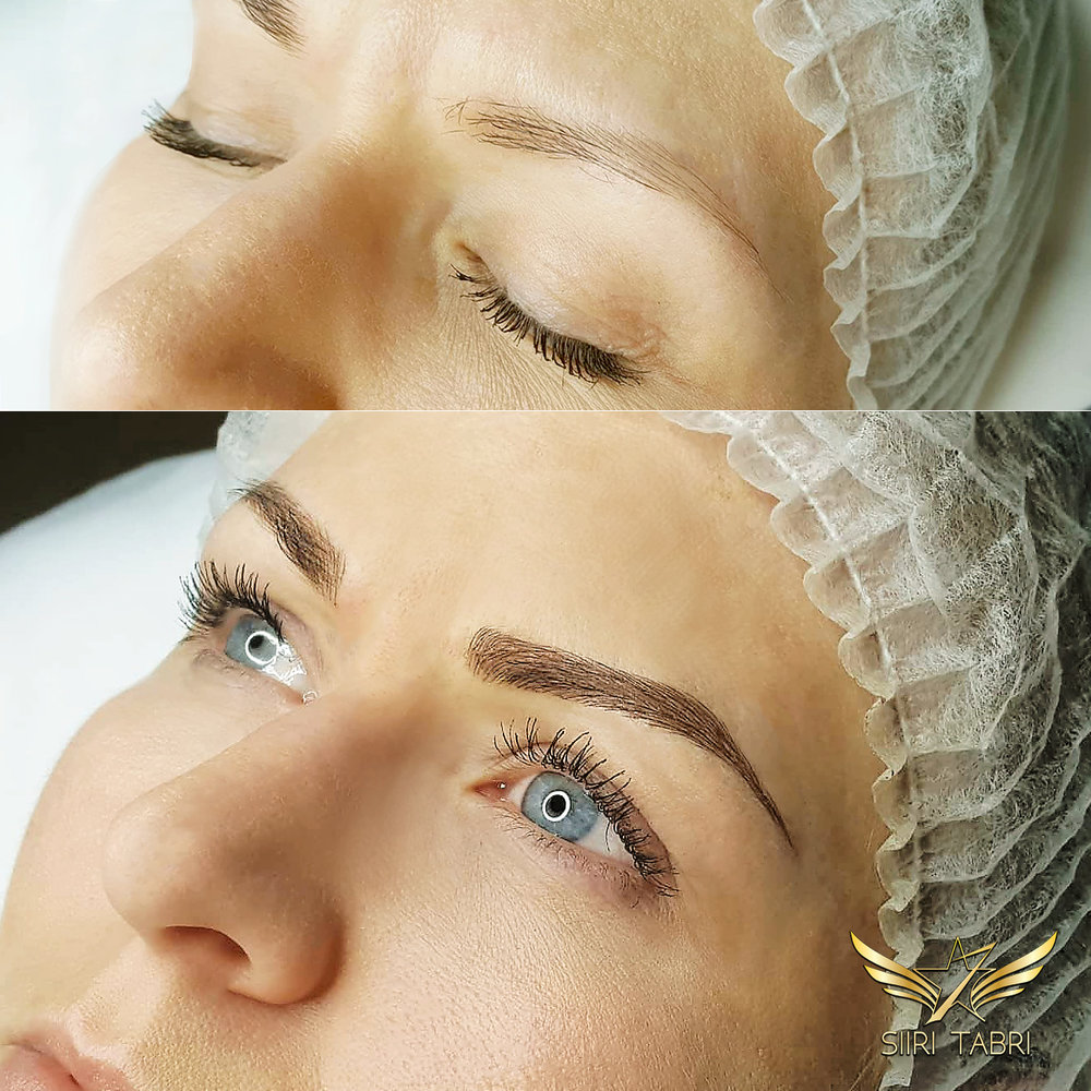 SharpBrows Light Microblading. Another sample how the dace literally changes and starts to shine.