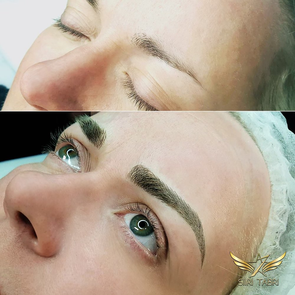 SharpBrows Ligt microblading. Brow created with light microblading from a quite modest starting situation.