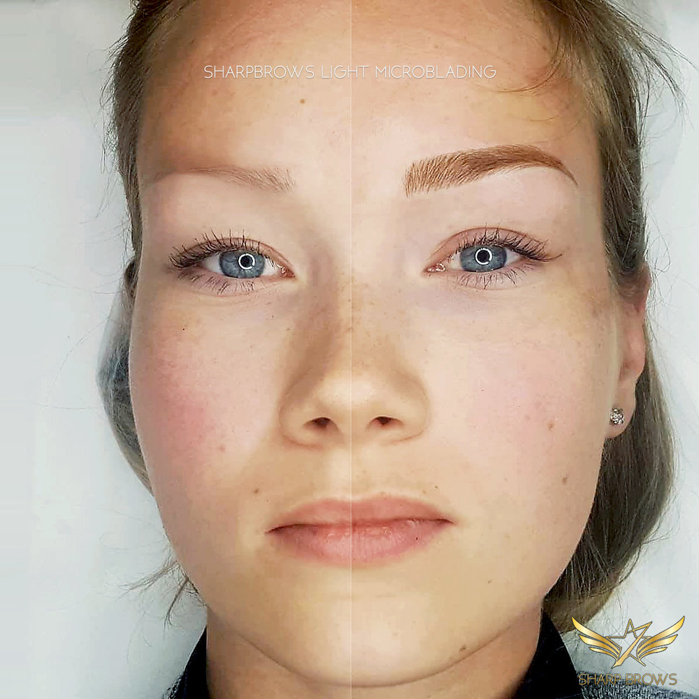 SharpBrows Light microblading. The correct way of making microblading can change a lot.
