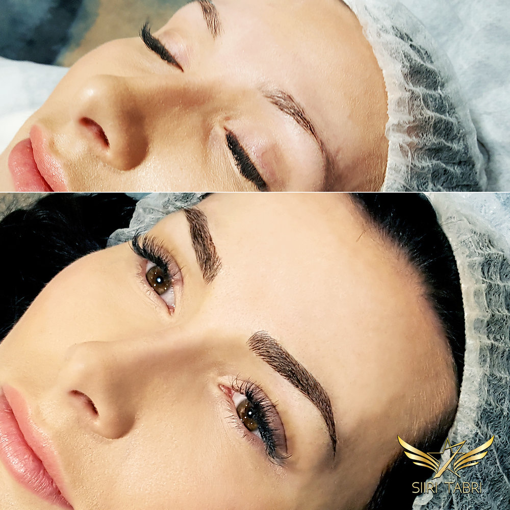 SharpBrows Light microblading. Making microblading the right way changes the overall expression of the face totally.