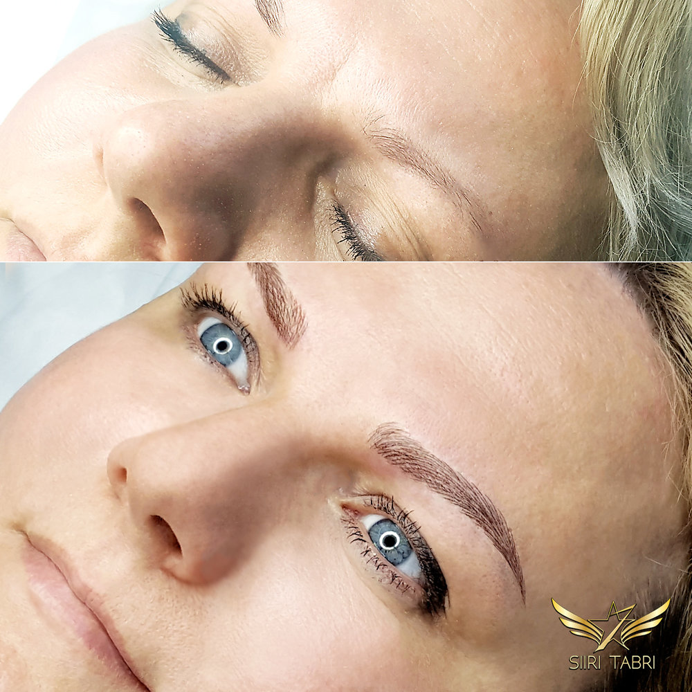 SharpBrows Light microblading - Amazing change with Light Microblading. Almost impossible to believe that the face changes so much.