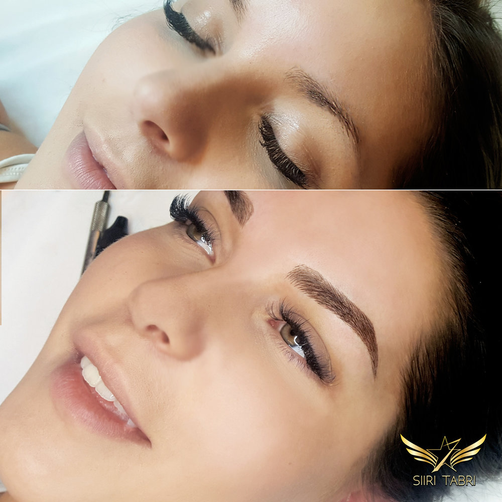 SharpBrows Light microblading. Very modest brow is turned into lush and beautiful brow with the help of light microblading technique.