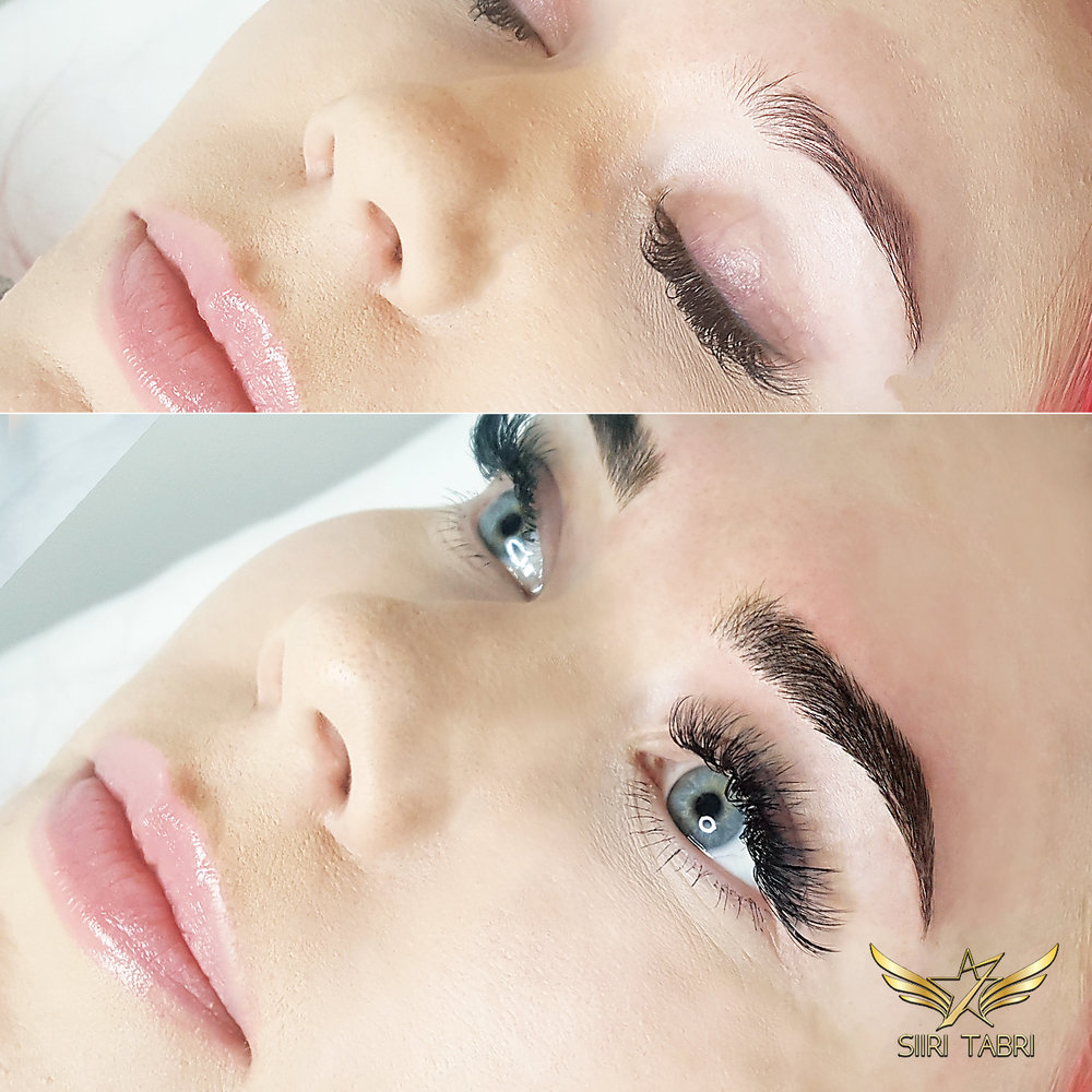 SharpBrows Light microblading - A poor brow is turned into lush and beautiful with light microblading.