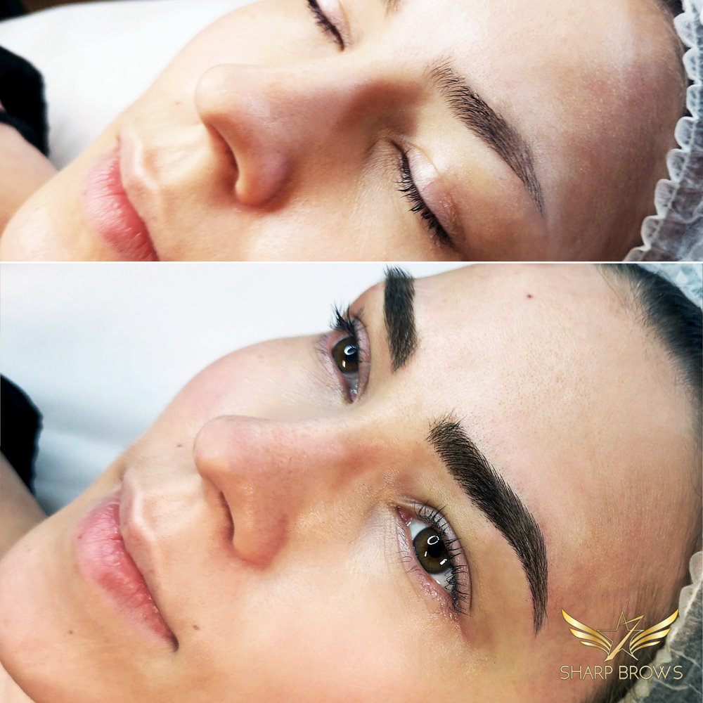 Old pigmentation/microblading fixed with Light microblading – There are more and more clients that already have had pigmentation or classic microblading done to their eyebrows. In those kind of situations Light microblading is an ideal solution to take the brow-game to a whole new level