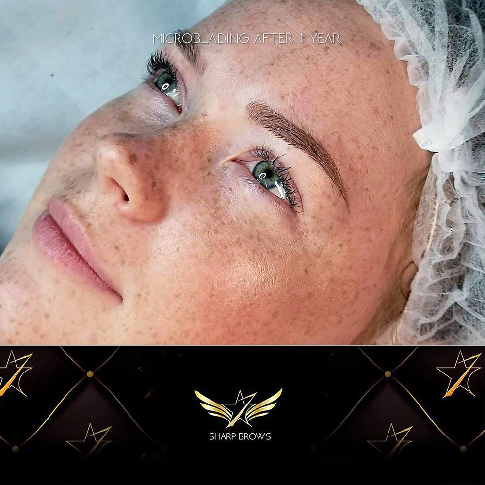 With Light microblading retention is even better.