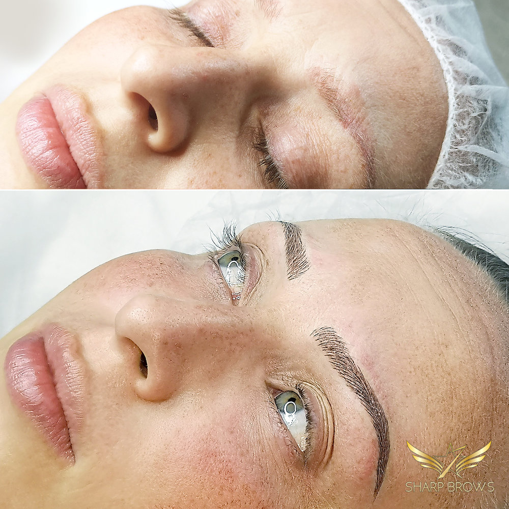 Light microblading - Excellent results from a quite poor starting situation.