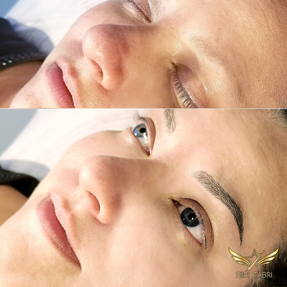 Light microblading. What a transformation with Light microblading! This is just unbelievable.