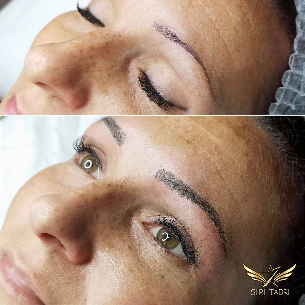 Light microblading. This is just unbelievable! Old pigmentation fixed so that even the close friends of the client did not believe it.