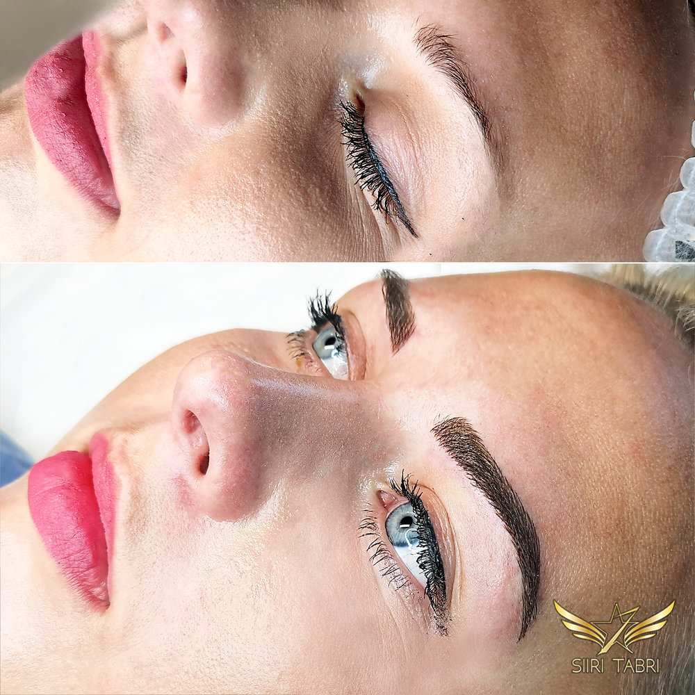 Light microblading. What a nice transformation with Light microblading. Almost unbelievable.