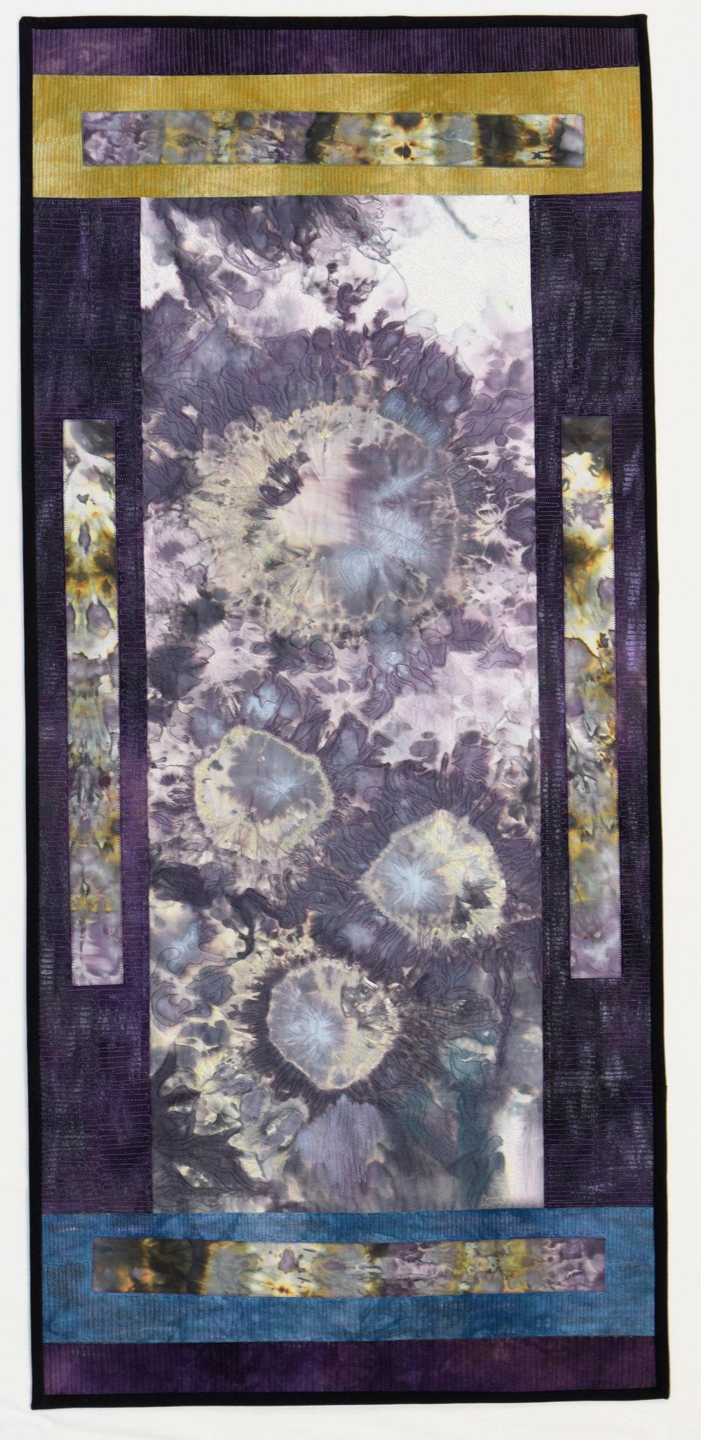 """Blooming in Purple  Jeanne Marklin  23.5"""" x 51"""""""