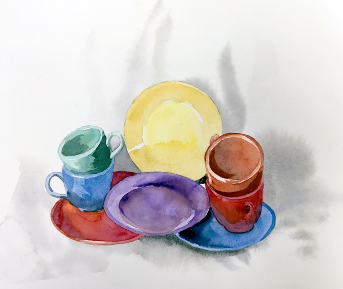 Dishes 2 Watercolor