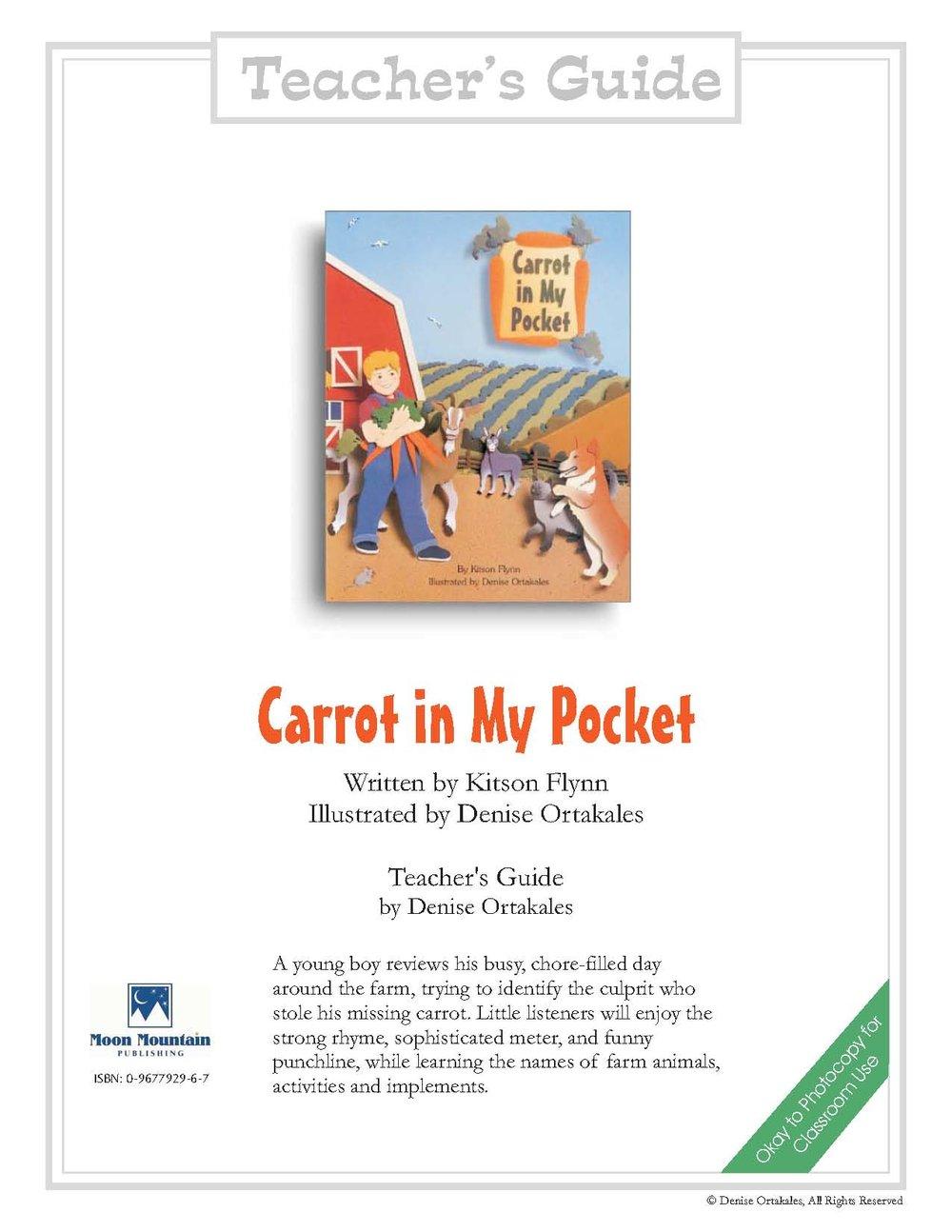 Carrot in My Pocket Teacher's Guide ©Denise Ortakales