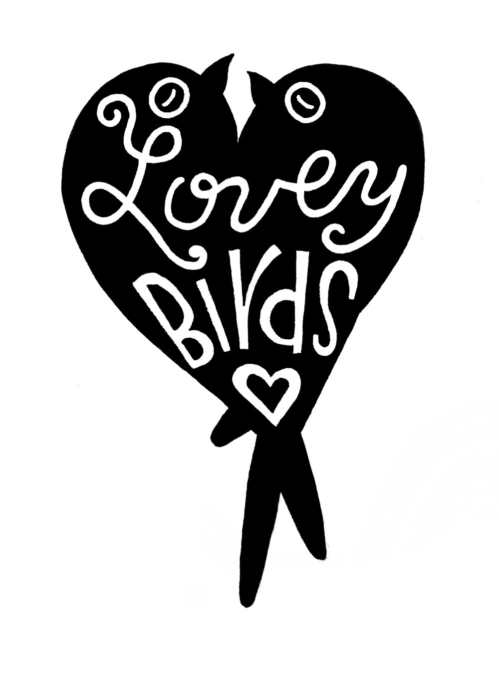 Lovey Birds, sharpie © Denise Ortakales