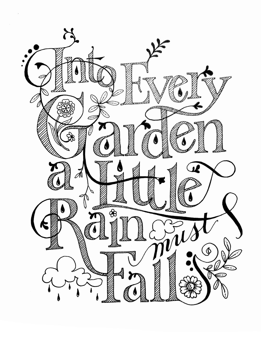 Every Garden, pen and ink © Denise Ortakales