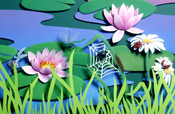 From  Good Morning, Garden , paper sculpture © Denise Ortakales