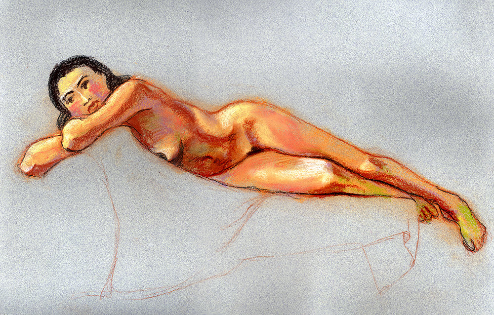 Michelle, pastels © Denise Ortakales