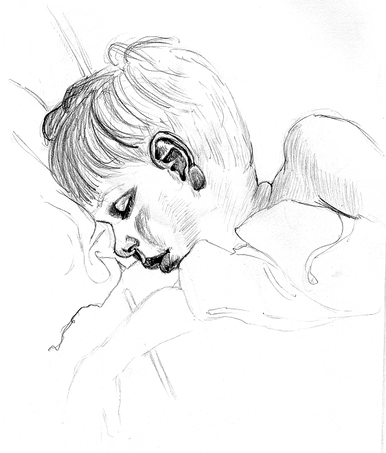 Demetrius, Age 2, pencil © Denise Ortakales