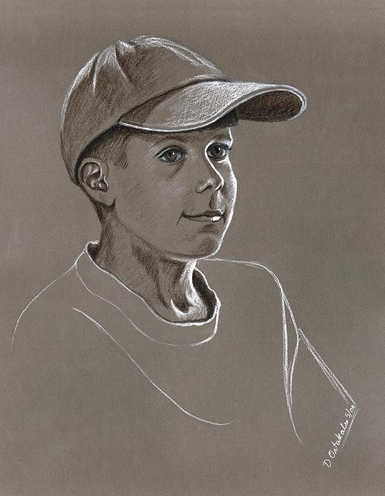 Nicholas, Age 11, charcoal © Denise Ortakales