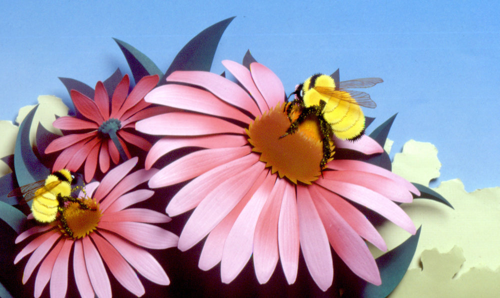 Life of the Bee, paper sculpture © Denise Ortakales